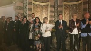 The Vetrina Toscana team and the participants to the gala with Marzia Morganti and Daniela Mugnai