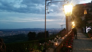 The perfect view from the garden bar of Villa San Michele