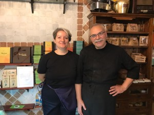 """Massimo and Marta the sweet owners of """"Osteria dell'Ortolano"""" in the center of Florence"""