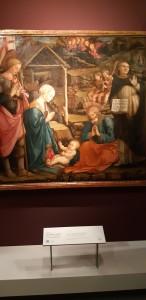 Natività con san Giorgio e san Vincenzo Ferrer