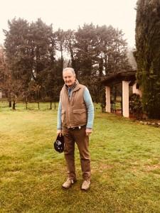 """Sig. Guido Guidi, proprietario de """"Il Sole Verde"""", produce un ottimo rosso """"Solarius"""" e olio extra vergine d'oliva"""