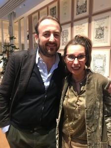 Simone Arnetoli e Laura da Toscanino presso La Rinascente di Firenze