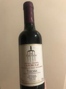 Il vino prodotto da Ristorante La Forca